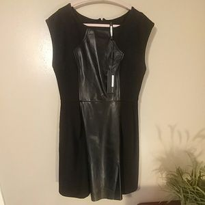 ✨NWT✨Plenty by Tracy Reese Leather Contrast Frock